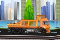 Ciężarówki na autostradzie