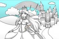 Kolorowanie zamku i księżniczki