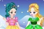 Młoda Elsa i Anna