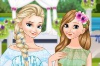 Panna młoda Elsa i druhna Anna