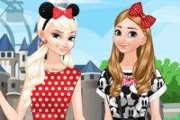 Siostry z Krainy lodu w Disneylandzie