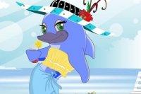 Ubieranie delfina Divy